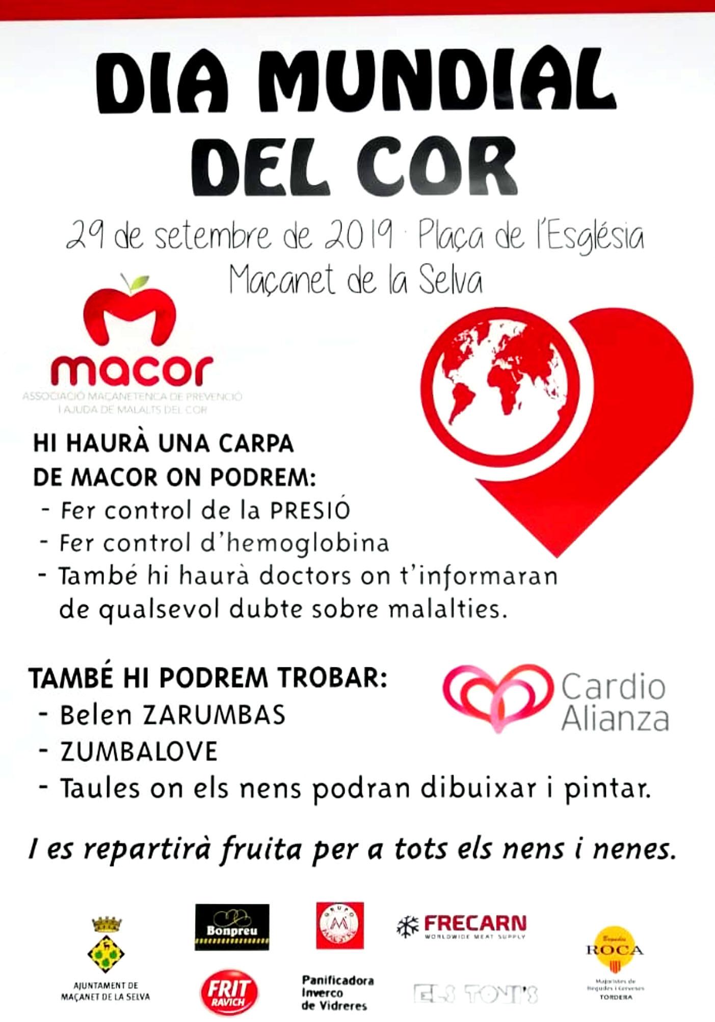 Dia mundial del cor a Maçanet de la Selva per MACOR 2019