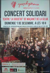 """""""Concert solidari de Gospel a la Societat el 1/12/19"""""""